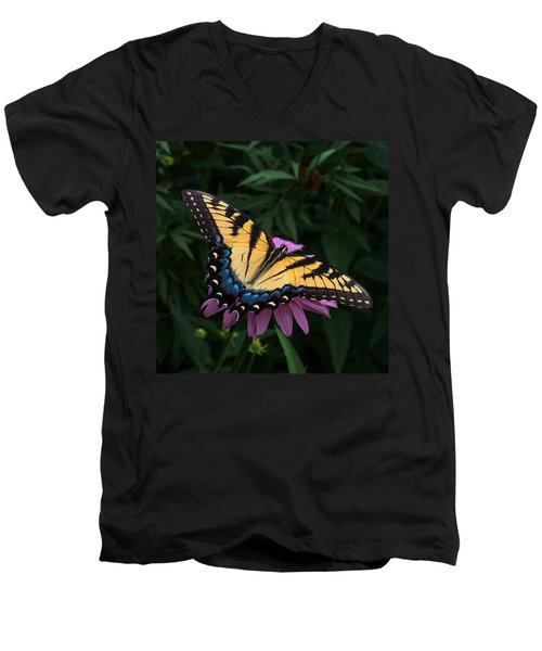 Swallowtail  Men's V-Neck T-Shirt by Don Spenner