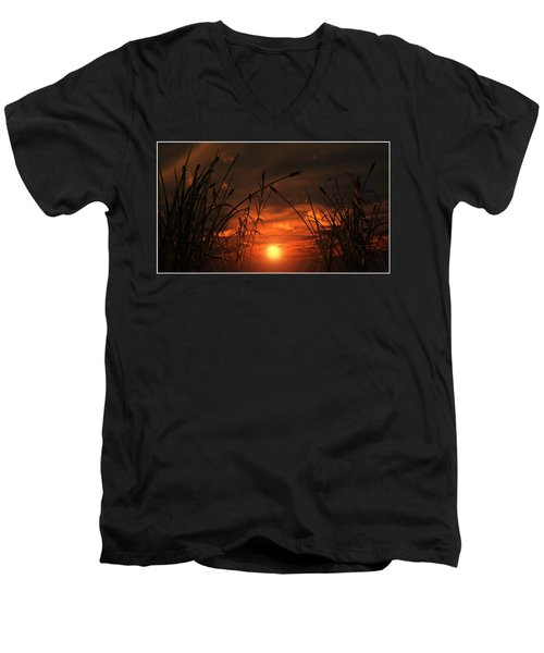 Swamp Sunset  Men's V-Neck T-Shirt