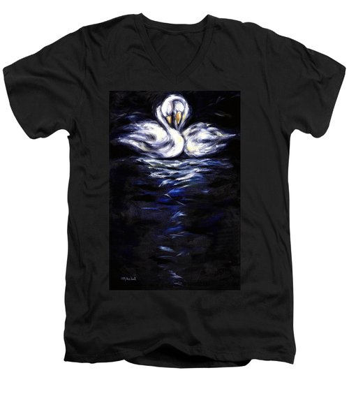 Swan Men's V-Neck T-Shirt