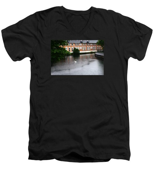 Swan In Dublin Men's V-Neck T-Shirt
