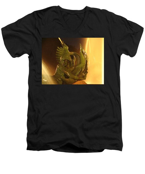 Men's V-Neck T-Shirt featuring the photograph Swann Fountain by Christopher Woods