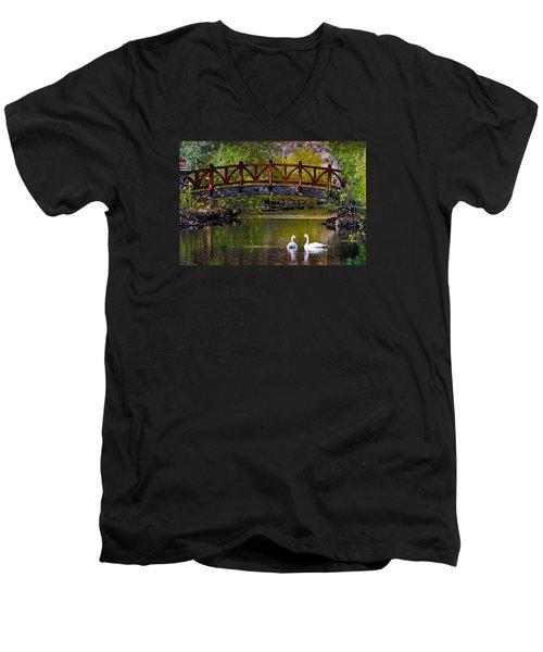 Swans At Caughlin Ranch II Men's V-Neck T-Shirt
