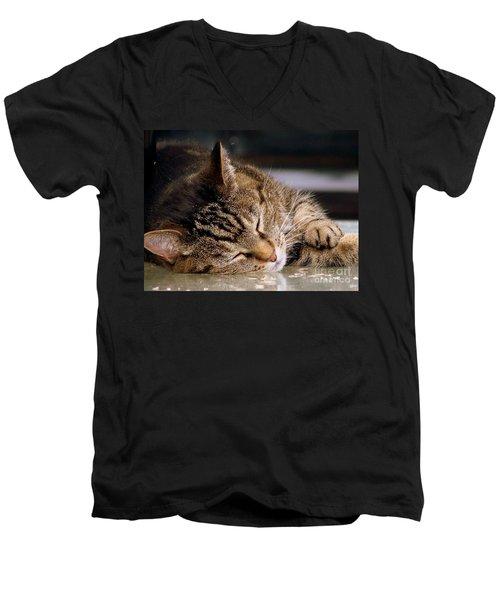 Sweet Dreams Men's V-Neck T-Shirt by Eunice Miller