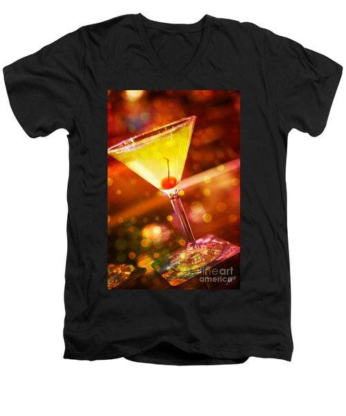 Sweet Martini  Men's V-Neck T-Shirt by Erika Weber