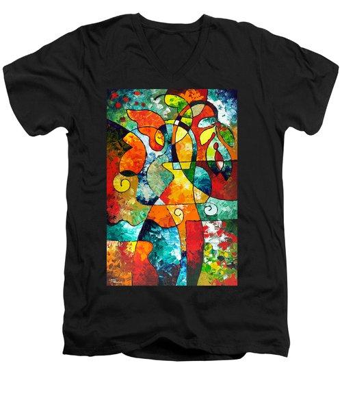 Sweet November Men's V-Neck T-Shirt by Sally Trace