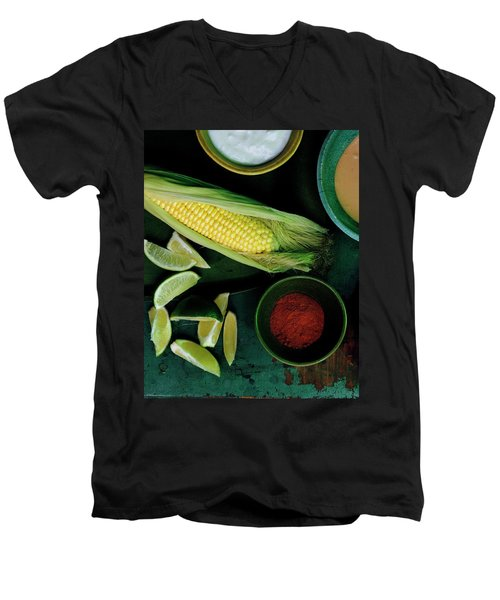Sweetcorn And Limes Men's V-Neck T-Shirt