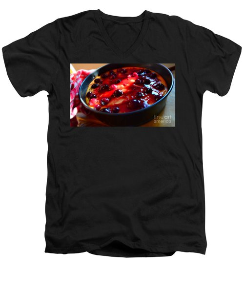 Men's V-Neck T-Shirt featuring the photograph Sweetest Cheese Pie by Ramona Matei