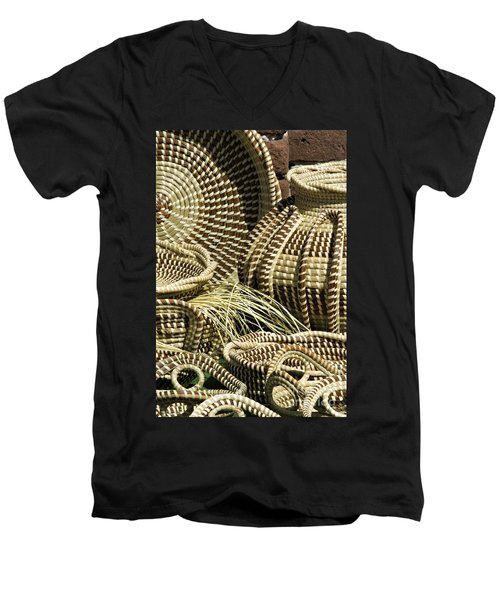 Sweetgrass Baskets - D002362 Men's V-Neck T-Shirt