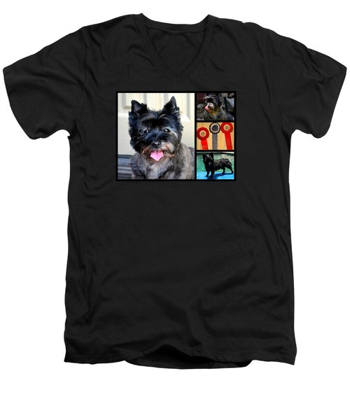 Sweetpea And Her Ribbons Men's V-Neck T-Shirt by Jay Milo