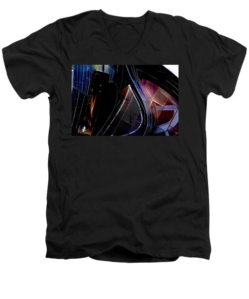 Swirling Shingles Men's V-Neck T-Shirt by Holly Blunkall