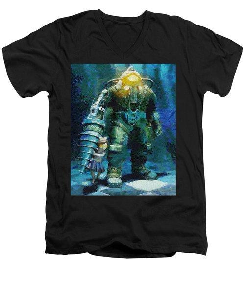 Symbiosis Men's V-Neck T-Shirt
