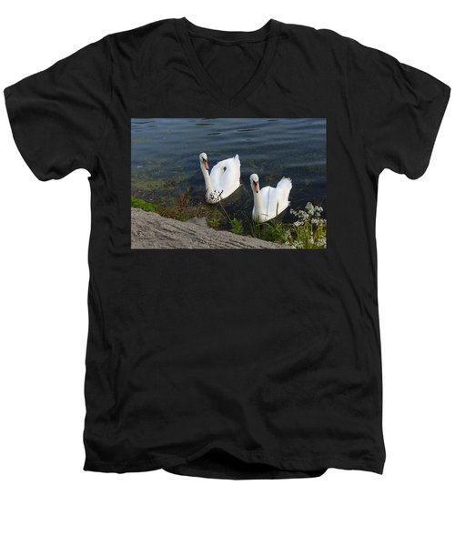 Men's V-Neck T-Shirt featuring the photograph Synchronicity by Lingfai Leung
