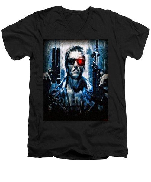 T800 Terminator Men's V-Neck T-Shirt