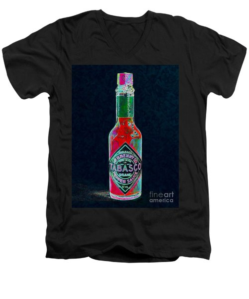 Tabasco Sauce 20130402 Men's V-Neck T-Shirt