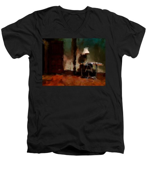 Table Lamp Chair Men's V-Neck T-Shirt by H James Hoff