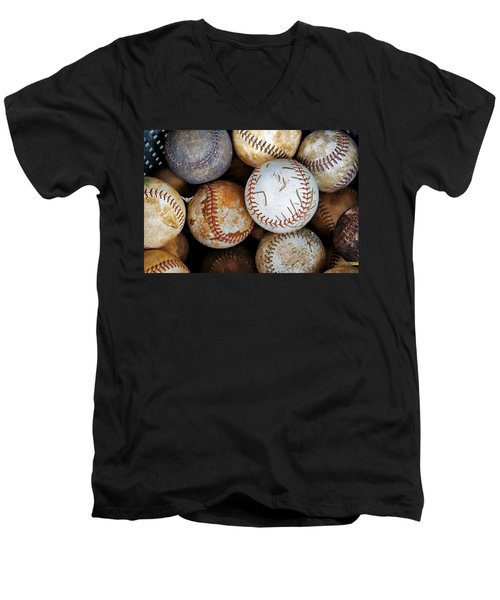 Men's V-Neck T-Shirt featuring the photograph Take Me Out To The Ball Game by Jean Goodwin Brooks