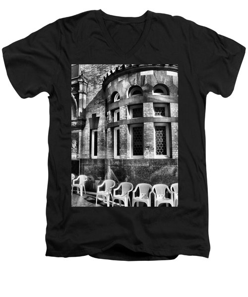Men's V-Neck T-Shirt featuring the photograph Takin It To Da Bank  by Robert McCubbin