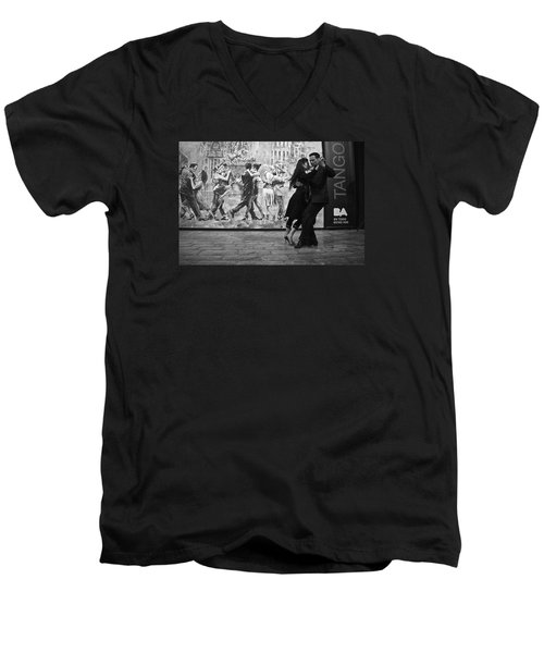 Tango Dancers In Buenos Aires Men's V-Neck T-Shirt by Venetia Featherstone-Witty