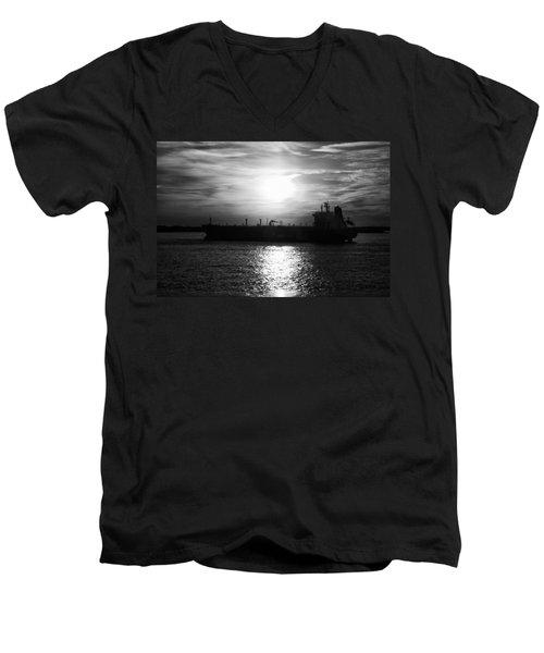 Tanker Twilight Men's V-Neck T-Shirt