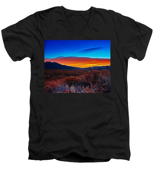 Taos Sunrise X Men's V-Neck T-Shirt