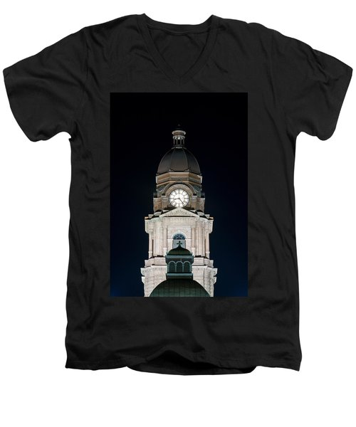 Tarrant County Courthouse V2 020815 Men's V-Neck T-Shirt