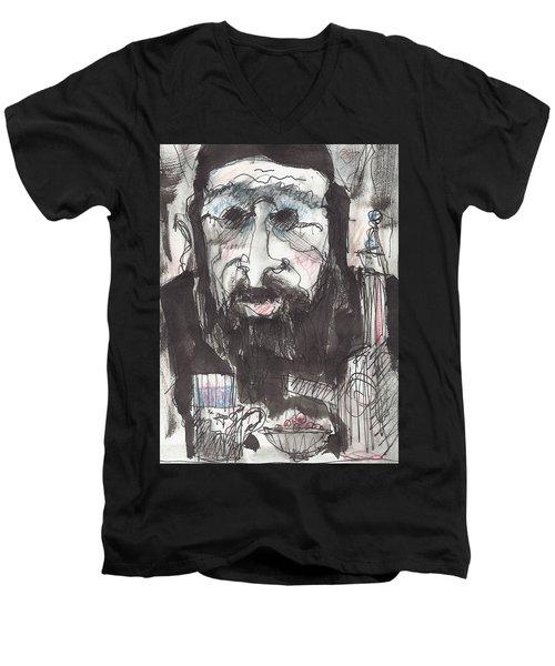 Tea Time 5 Men's V-Neck T-Shirt by Maxim Komissarchik
