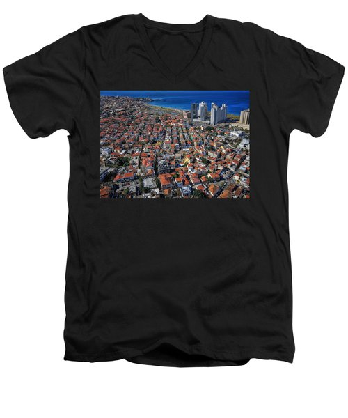 Tel Aviv - The First Neighboorhoods Men's V-Neck T-Shirt