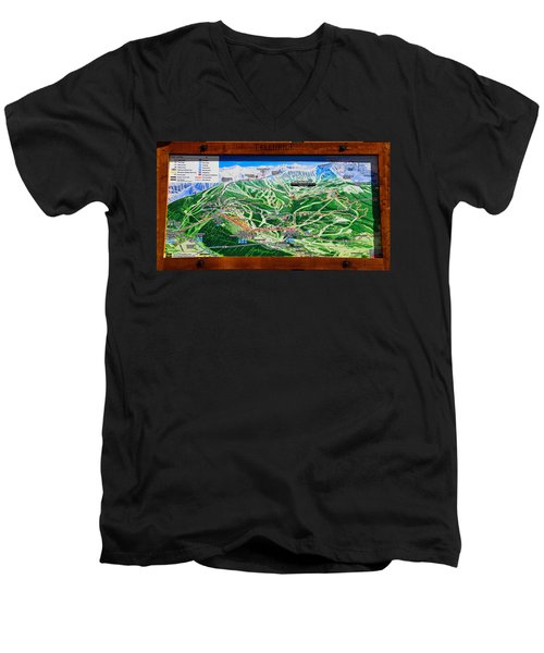Telluride Ski Map Detail  Men's V-Neck T-Shirt