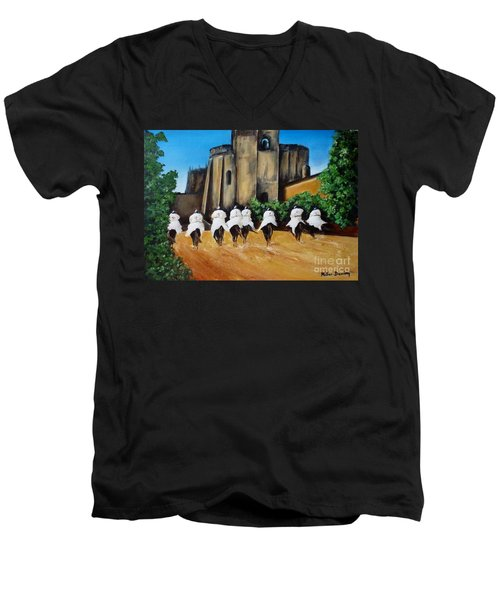 Templar Knights And The Convent Of Christ Men's V-Neck T-Shirt