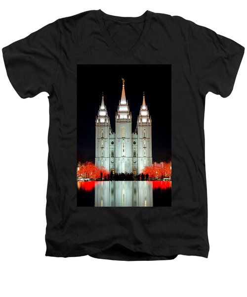 Temple Lights Men's V-Neck T-Shirt