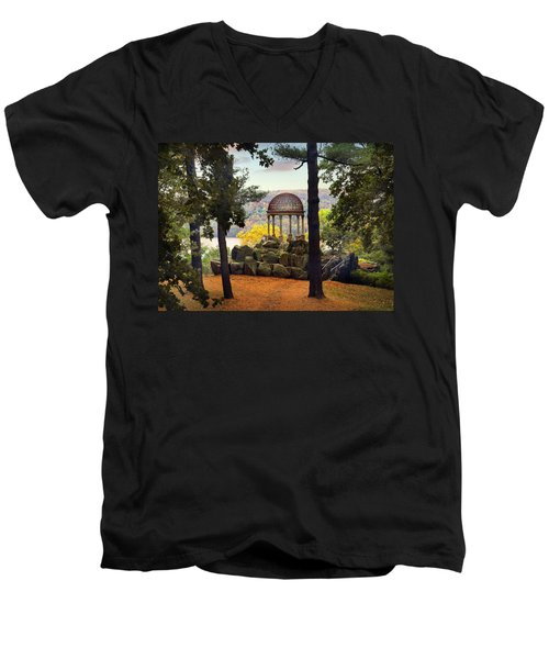 Temple Of Love In Autumn Men's V-Neck T-Shirt