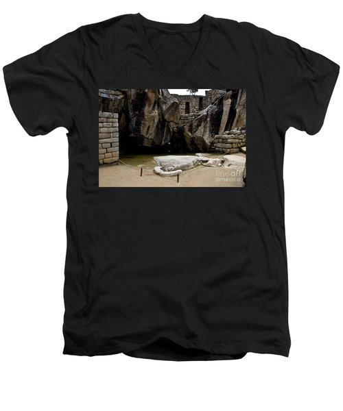 Temple Of The Condor Men's V-Neck T-Shirt