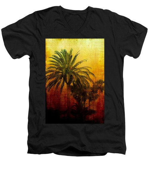 Men's V-Neck T-Shirt featuring the photograph Tequila Sunrise by Jan Amiss Photography