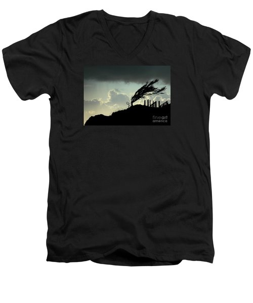 Men's V-Neck T-Shirt featuring the photograph  The Test Of Time by Nick  Boren