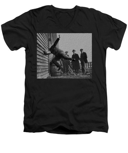 Testing Football Helmets In 1912 Ouchhhhh Men's V-Neck T-Shirt