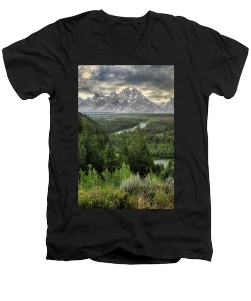 Teton Visions Men's V-Neck T-Shirt