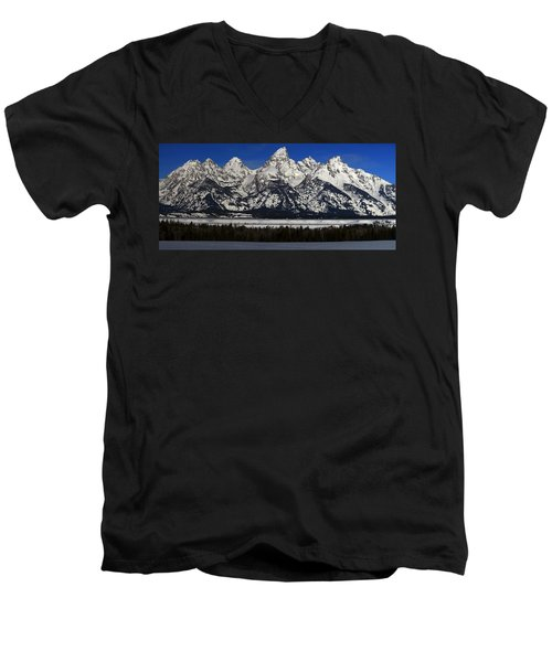Tetons From Glacier View Overlook Men's V-Neck T-Shirt