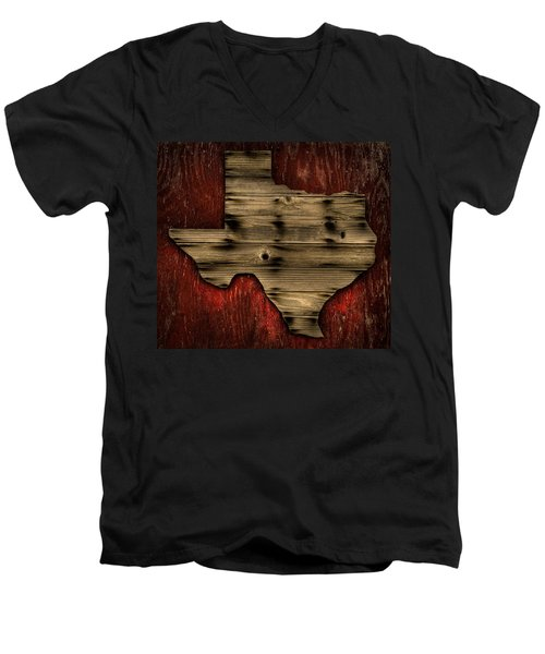 Texas Wood Men's V-Neck T-Shirt