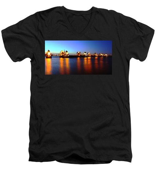Men's V-Neck T-Shirt featuring the photograph London Thames River by Mariusz Czajkowski