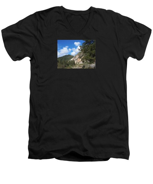 Clouds Of Hearts Men's V-Neck T-Shirt by Bobbee Rickard