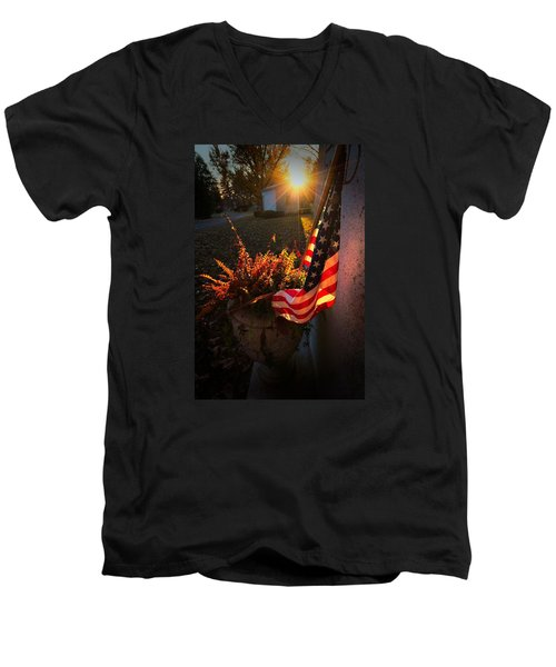 Men's V-Neck T-Shirt featuring the photograph Thank You For Serving by Robert McCubbin