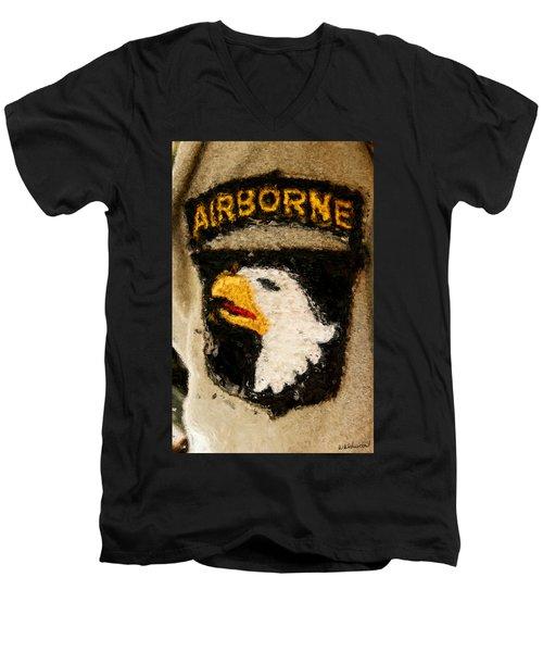 The 101st Airborne Emblem Painting Men's V-Neck T-Shirt