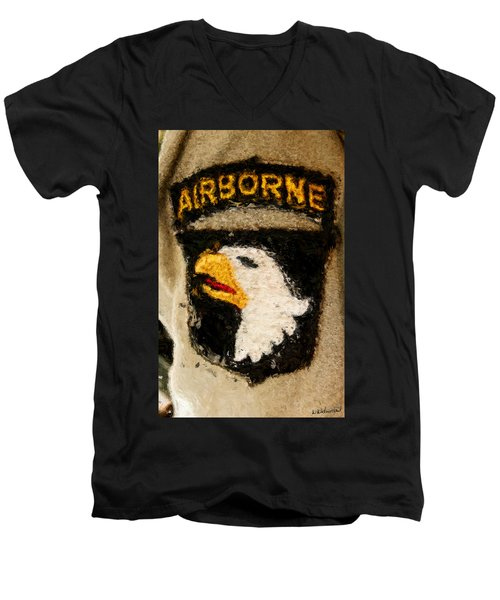 The 101st Airborne Emblem Painting Men's V-Neck T-Shirt