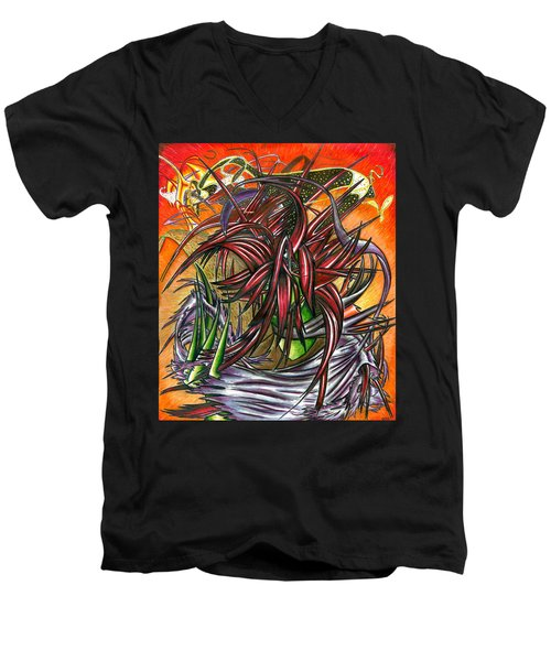 The Abysmal Demon Of Hair Men's V-Neck T-Shirt