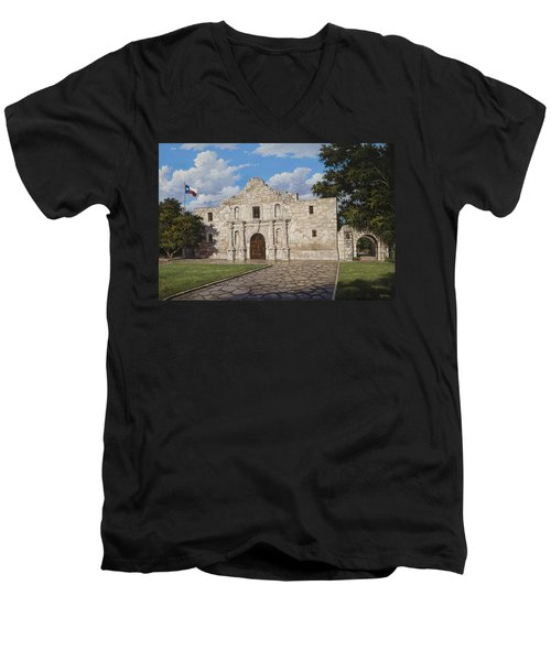 The Alamo Men's V-Neck T-Shirt