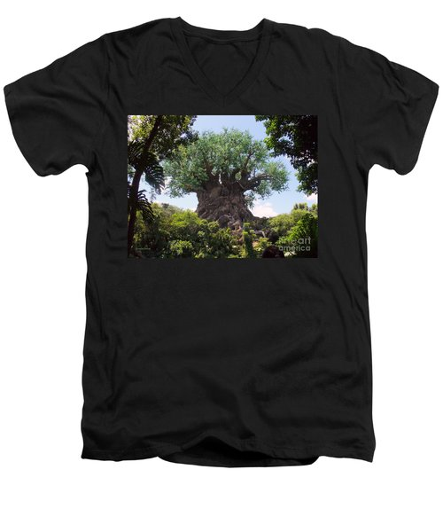 The Amazing Tree Of Life  Men's V-Neck T-Shirt by Lingfai Leung