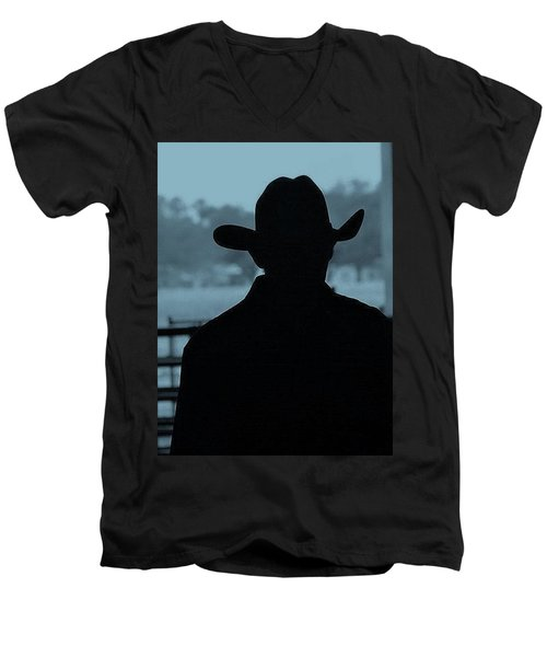 Men's V-Neck T-Shirt featuring the photograph The American Cowboy by John Glass
