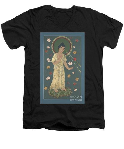 The Amitabha Buddha Descending 247 Men's V-Neck T-Shirt