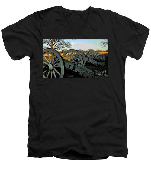 The Artillery Men's V-Neck T-Shirt by Cindy Manero