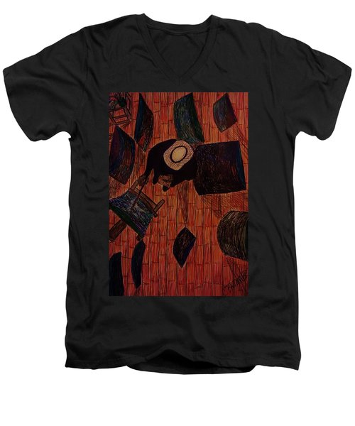 The Artist's Perspective Men's V-Neck T-Shirt by Christy Saunders Church